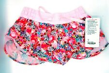 "Lululemon Running Women's Hotty Hot Short 2.5"" Size 6 Floral Pattern Lined NWT"