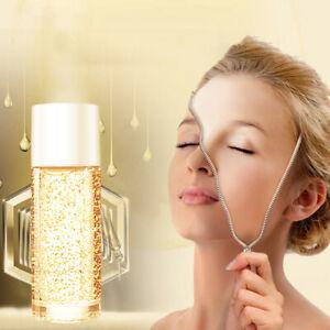 1x 10ML 24K Gold Silk Collagen Facial Serum Face Skin Care Essence Anti-wrinkle