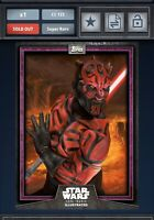 Star Wars Card Trader PURPLE CTI - 2018 SERIES 6 - DARTH MAUL 125CC