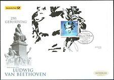 BRD 2020: Ludwig van Beethoven! Post-Groß-FDC mit Block Nr. 85! Bonn-St.! 20-03