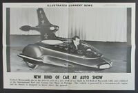 Vintage 1962 ED ROTH EARLY CAR DESIGN Illustrated Current News Poster HOT ROD