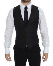 NWT $360 DOLCE & GABBANA Black Stretch Formal Dress Vest Gilet IT44 / US34 / XS