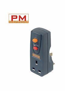 Masterplug Safety RCD Plug In (Circuit Breaker) Safety RCD Plug in Adaptor