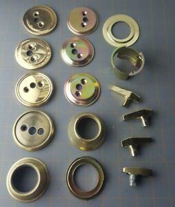 Door Cover Turn Knob Gold Collar Shield Lock Cylinder Hardware PARTS OR REPAIR