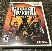 Guitar Hero 3 III Legends of Rock Wii Complete Complete w/ Manual - Free Ship