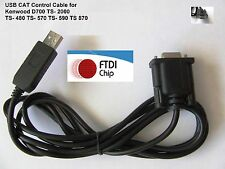 FTDI USB CAT Control Cable  Kenwood TS- 480 570 590 TS-870 TS-2000 TM-D2000 1.8m