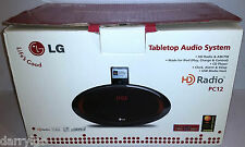 LG Tabletop Audio System HD RADIO(PC12)CD Player,ipod(40 pin) AM/FM,Clock, Alarm