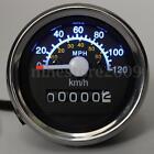 Universal Motorcycle Bike Speedometer Odometer Gauge KMH MPH LED Backlight Black