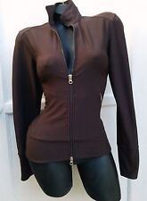 Lucy Activewear Cocoa Brown Jacket w Zipper Sun Protection UPF 30   XS-S