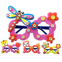Cartoon Eva Sticker Glasses DIY Craft Kindergarten Educational Toys Kids Gift*~*