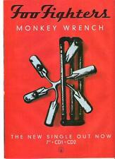 "FOO FIGHTERS Monkey Wrench UK magazine ADVERT / mini Poster 11x8"""