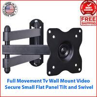 "TV Wall Mount Swivel LCD LED Swing Arm Full Motion Rotating 19""-32"" Flat Monitor"