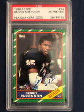 1986 Topps #14 Dennis McKinnon Chicago Bears Rookie Card RC PSA DNA Signed/Auto!