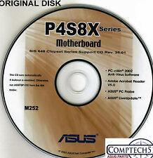 ASUS GENUINE VINTAGE ORIGINAL DISK FOR P4S8X ser  Motherboard Drivers Disk  M252