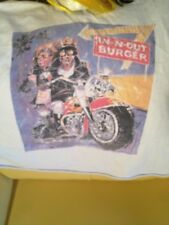 ORIGINAL VINTAGE 1990S IN-N-OUT BURGER T-SHIRT, SLEEVELESS, WHITE, HARLEY