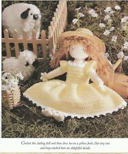 "Crochet Pattern ONLY - 9-1/2"" Doll with Dress - Sport weight yarn"