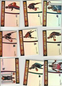 90'S INSERTS LOT (9) 1999-00 BOWMAN'S BEST ROOKIE LOCKER ROOM COLLECTION RC