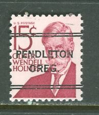 Pendleton OR 243 DLE precancel on 15 cent Oliver W. Holmes Prom American issue