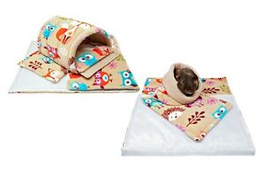 C&C and Ferplast set, fleece cage liners for guinea pig and small animals.