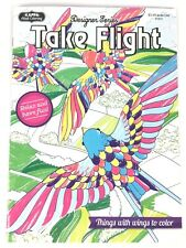 Take Flight Things with Wings to Color Adult Coloring Book Birds Butterflies Owl
