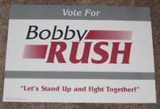 1999 BOBBY RUSH FOR MAYOR OF CHICAGO PICTURE CAMPAIGN POSTER - BLACK PANTHER
