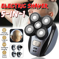 US 5 IN1 4D Rotary Electric Shaver Rechargeable Bald Head Beard Trimmer New Hot