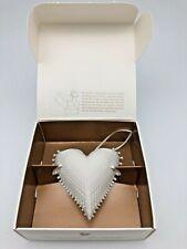 "Margaret Furlong Wings of Love Porcelain Heart Ornament, 2.5"" New in Box 1996"