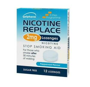 Nicotine Replace 2mg 12 Lozenges Sugar Free Peppermint Flavour Galpharm