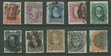 Brazil 1866-1878 collection incl high values perf/roul good used (2055)