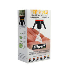 Flip-It! All In One Deluxe Pack Dispenser Cap System. 6 Size Set. No More Waste!