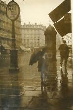 Paris sous la pluie  Vintage silver print Tirage argentique  13x18  Circa