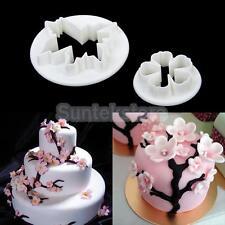 Pair of Sakura Flower Fondant Cookie Cupcake Decorating Mold Gum Paste Cutter