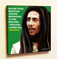 Bob Marley Painting Decor Print Wall Pop Art Poster Canvas Reggae Jamaica