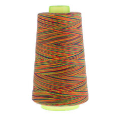 40s/2 Rainbow Color Polyester Sewing Thread Cone for Hand and Sewing Machine