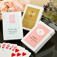 Wedding Shower Party Favors 40-100 Personalized Monogram Design Playing Cards