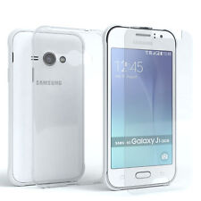 Schutzhülle + Schutzglas f. Samsung Galaxy J1 Ace Panzer Cover