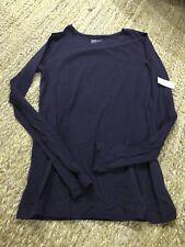 Gap Body Women's Pure Body Long Sleeve T-Shirt Purple Size Medium NWT