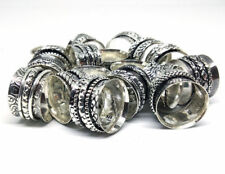 20 PCs Lot Spinner .925 Silver Plated Spinning Rings Meditation Challa Jewelry