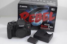 MINT CANON USA EOS REBEL T6i DSLR CAMERA BODY ONLY, BOXED, BARELY USED