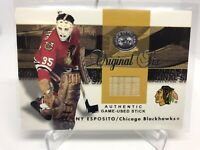 2001-02 Fleer Greats of the Game Original Six Game Used Stick Tony Esposito MINT