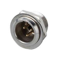 MINI CANNON XLR Maschio da Pannello 3 Poli, in metallo, Flancia a Vite - XLR3MPS