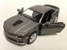 "2014 Chevrolet Camaro 5"" Diecast Metal Pull Back Action 1:38 Kinsmart Toy Gray"