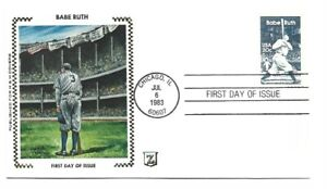 2046 Babe Ruth Zaso for H&M Covers cachet 'D' FDC