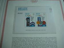 Aus Abo - Olympische Spiele 1980 :  1 Luxus - Block xx 13 BELIZE olympia moskau