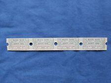 Vintage $1.75 Majestic Theatre Tickets (Strip of 4) Drive In Movie/Cinema