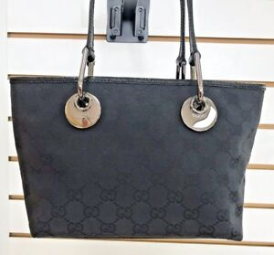 Gucci Black Guccissima Jacquard Handbag