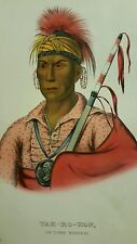 Plate No 70 TAH-RO-HON, 1872 Octavo McKenney & Hall History of Indian Tribes