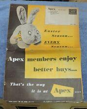 APRIL 1960 APEX STORES SALES FLYER / CATALOG / PAWTUCKET R.I./ HOUSEHOLD,TOYS