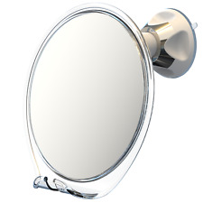Luxo Fogless Bathroom Shaving Mirror for Shower, Anti Fog, Suction Cup, Tweezers