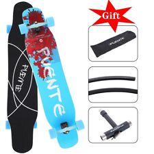 "New listing 46"" Inch Maple Longboard Skateboard Drop Through Complete Skateboard Cruiser US"